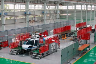 重慶通用直升機組裝生產線
